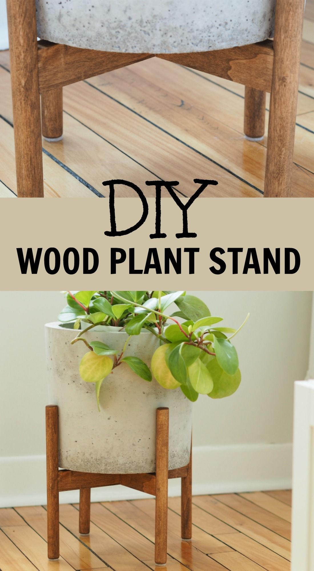 how to make a wood plant stand | home decor in 2019 | diy