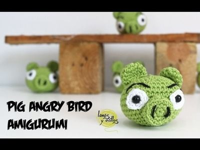 Tutorial Cerdo Angry Birds Amigurumi Pig (English subtitles)