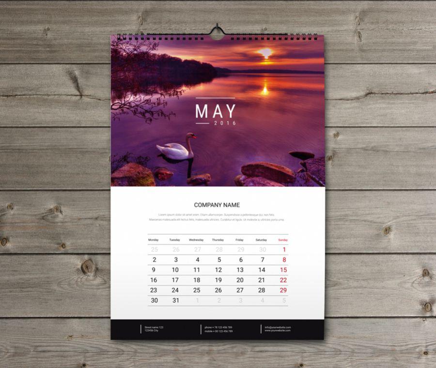 Wall Calendar  Design Template KwWB  Calendar