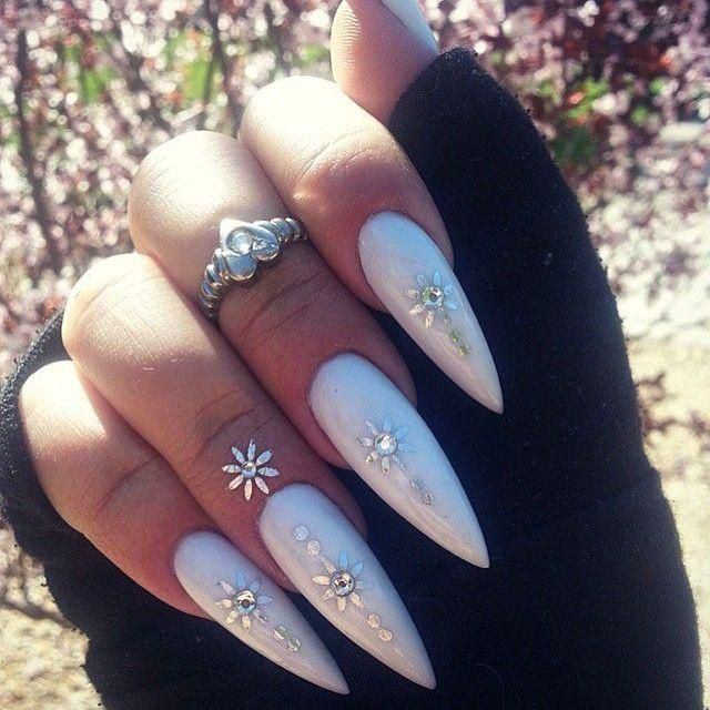 40 diseños de uñas largas decoradas, ¡no te lo pierdas! | Uñas ...