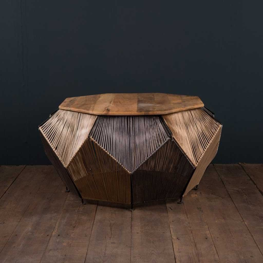 The Geometric Lines The Natural Cotton Twine Sides The Gorgeous Mango Wood Top Which Can Mango Wood Furniture Mango Wood Coffee Table Geometric Coffee Table [ 1024 x 1024 Pixel ]