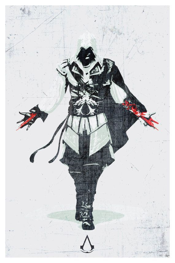 Assassins creed video game poster print 12x18 by spacebardesigns i really want this