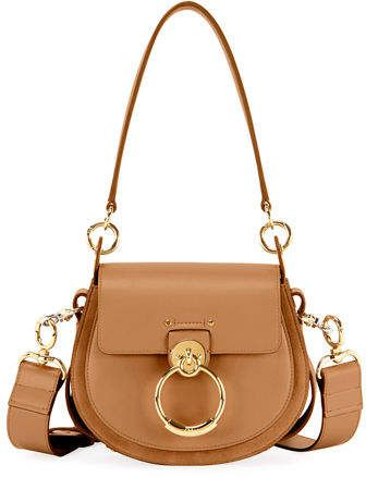 5e96b9297f Chloé Tess Large Leather Suede Camera Crossbody Bag ...