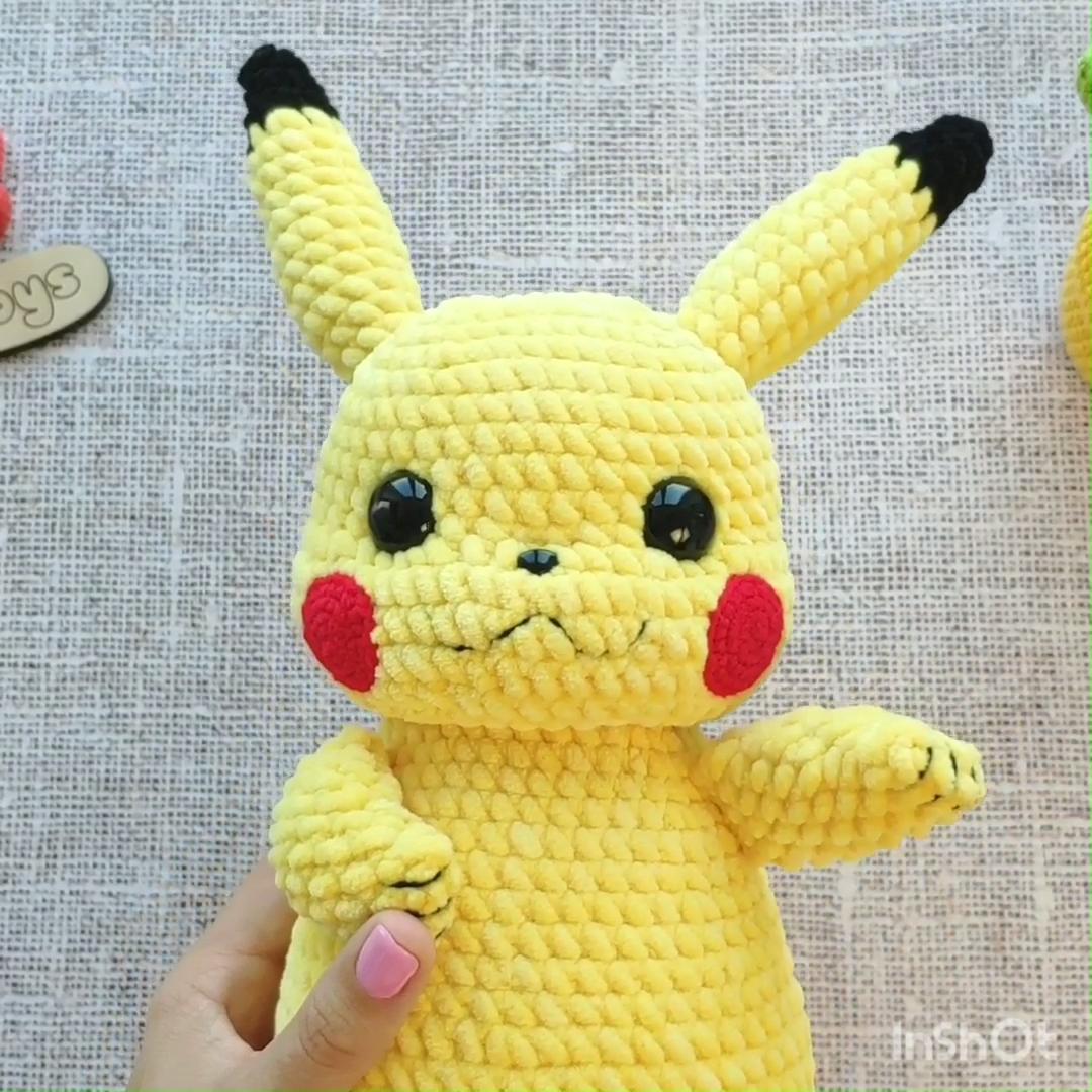Handmade Knit Amigurumi Pikachu Pokemon Crochet Dolls - Buy ... | 1080x1080