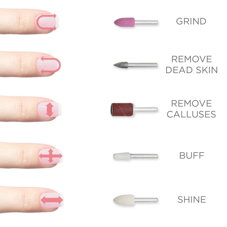 10Pcs//Set Nail Drill Bits Electric Manicure Head Manicure Pedicure Polishing