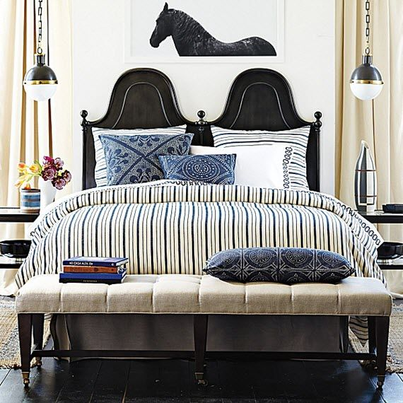 Bedroom In Neutrals And Indigo, Love The Bed | Serena U0026 Lily