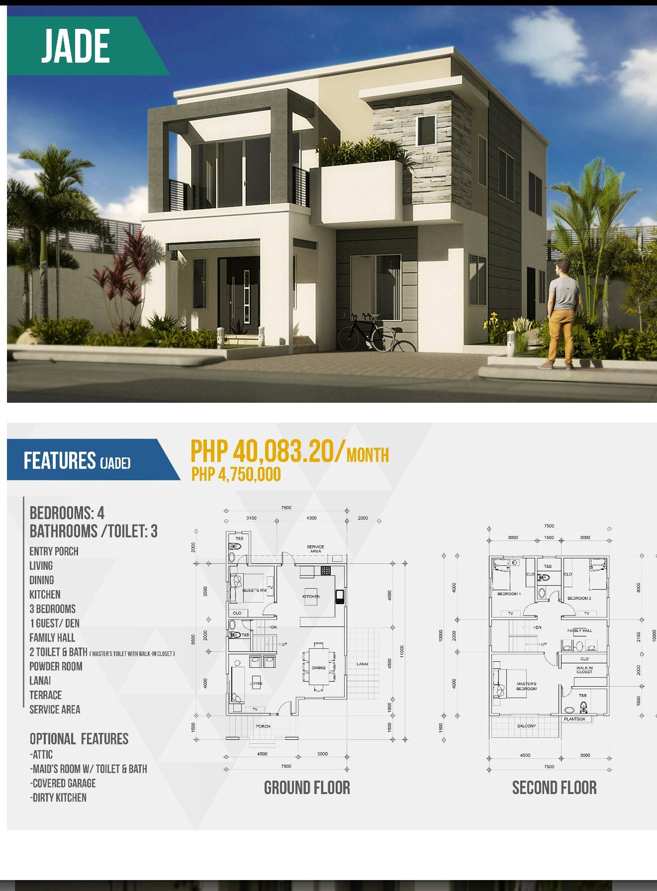 Our Featured Pre Designed Smart Home For Today Is Jade Visit Us At Www Makbuildersph Com Philippines House Design 2 Storey House Design Modern Bungalow House