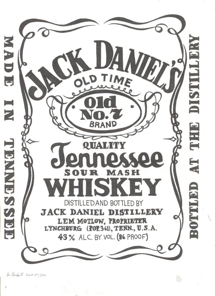 This is a graphic of Légend Jack Daniels Label Template
