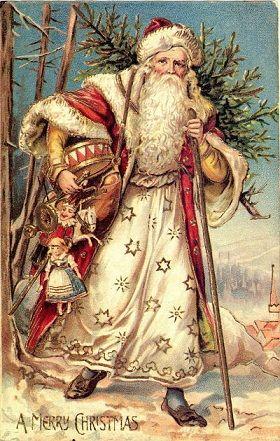 Immagini Babbo Natale Vintage.Il Mondo Di Mary Antony Cartoline Natale Vintage
