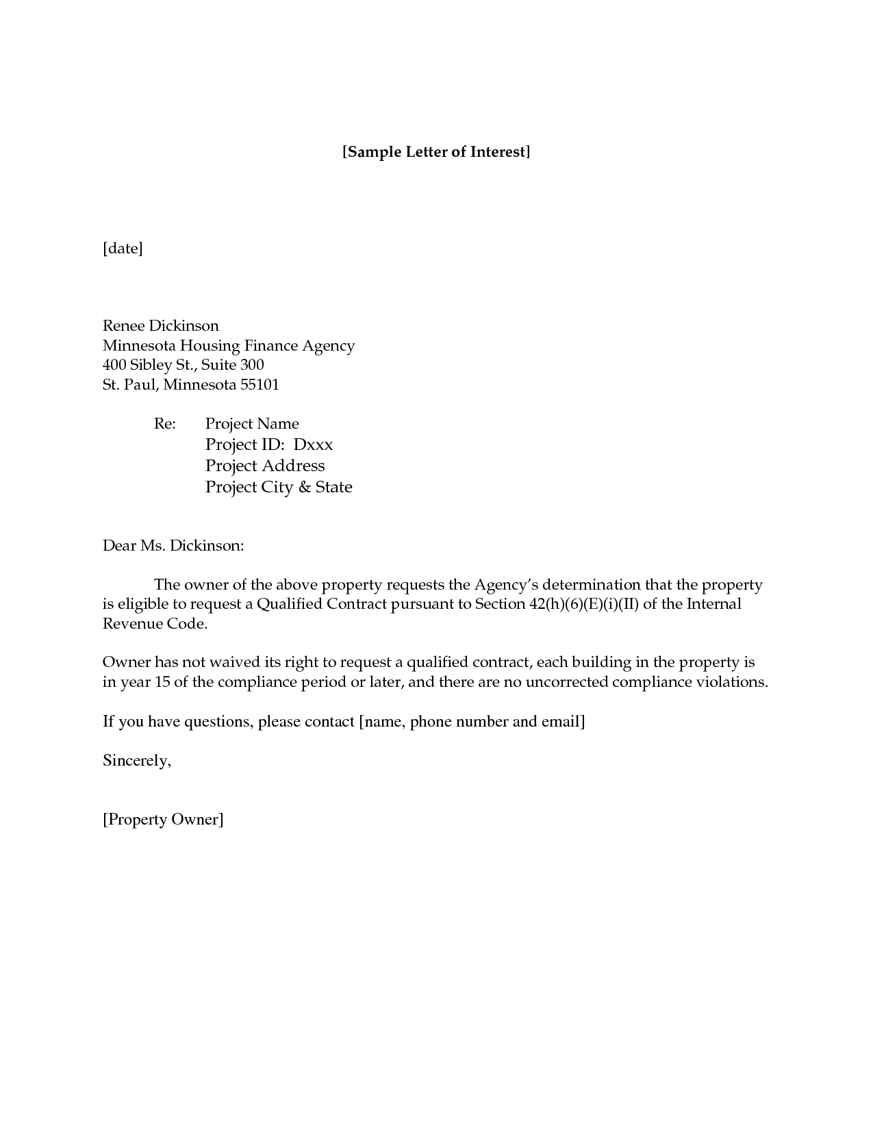 Sample Letter Interest For Job Position Best Business Template