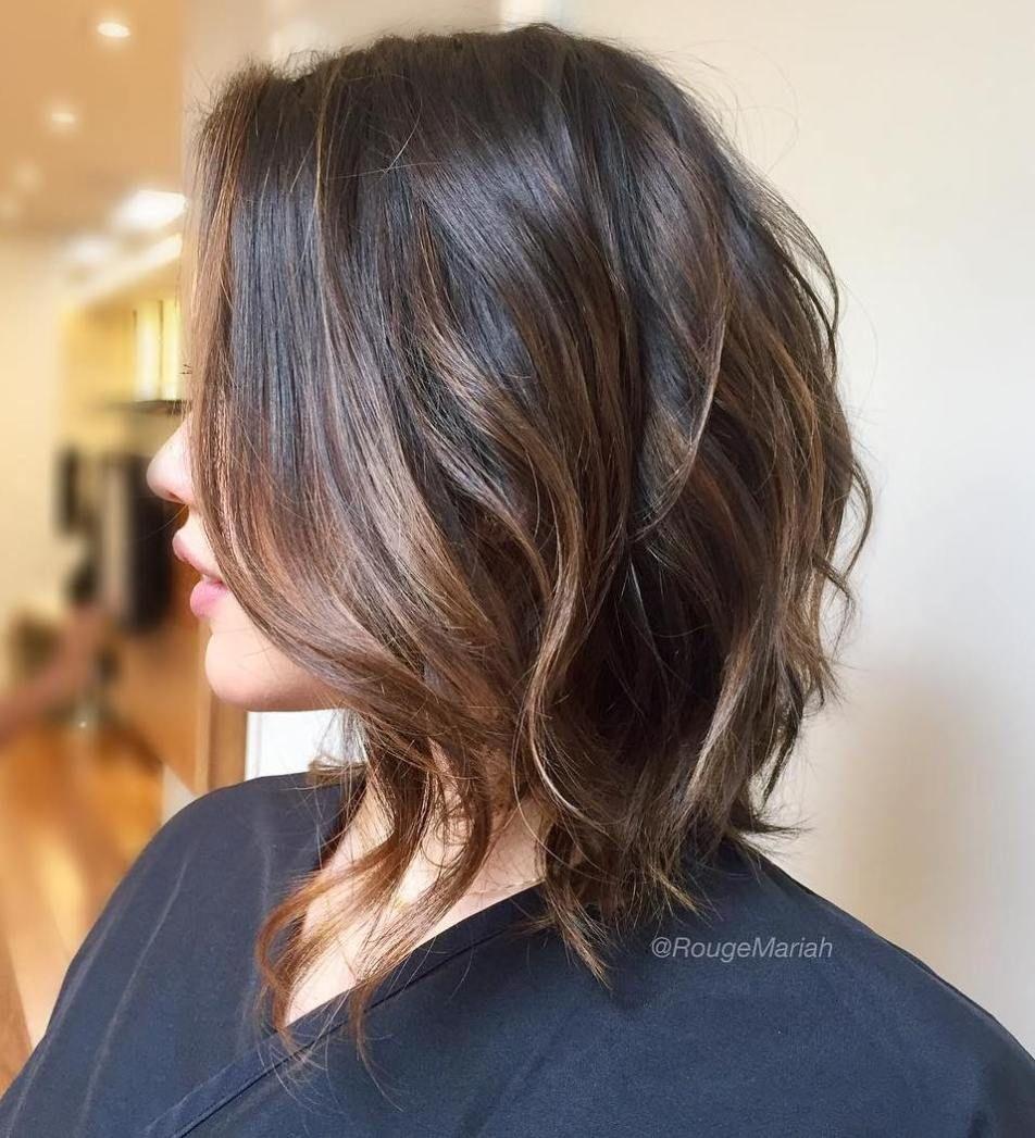50 No Fail Medium Length Hairstyles For Thin Hair Medium Brunette Hair Medium Hair Styles Hair Styles