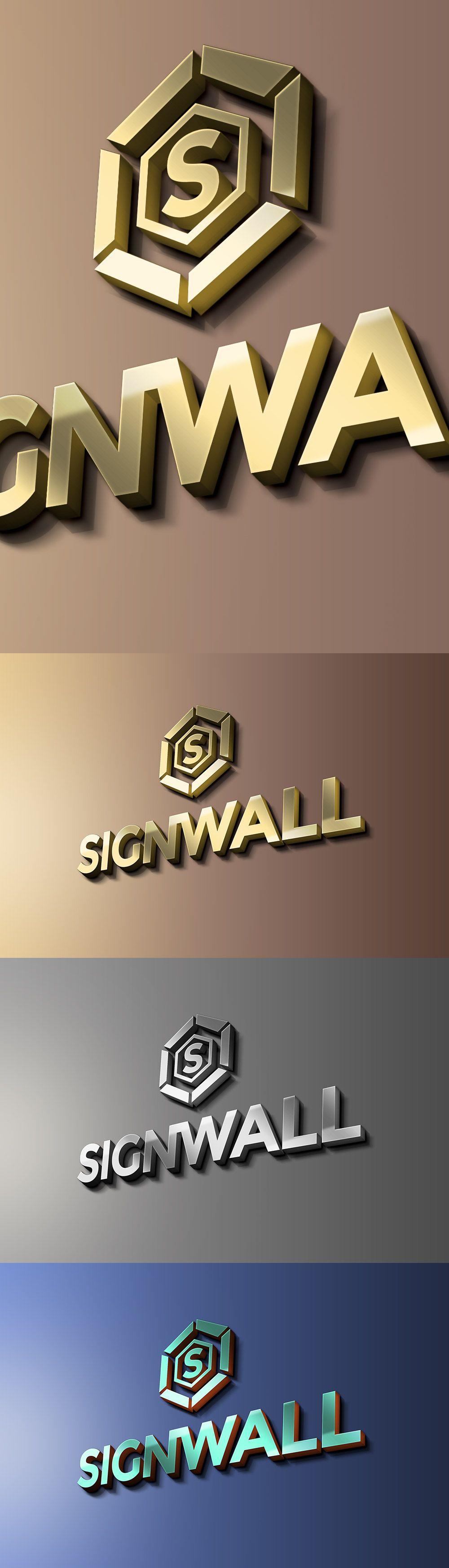 Free Sign Wall Logo Mockup 224 MB