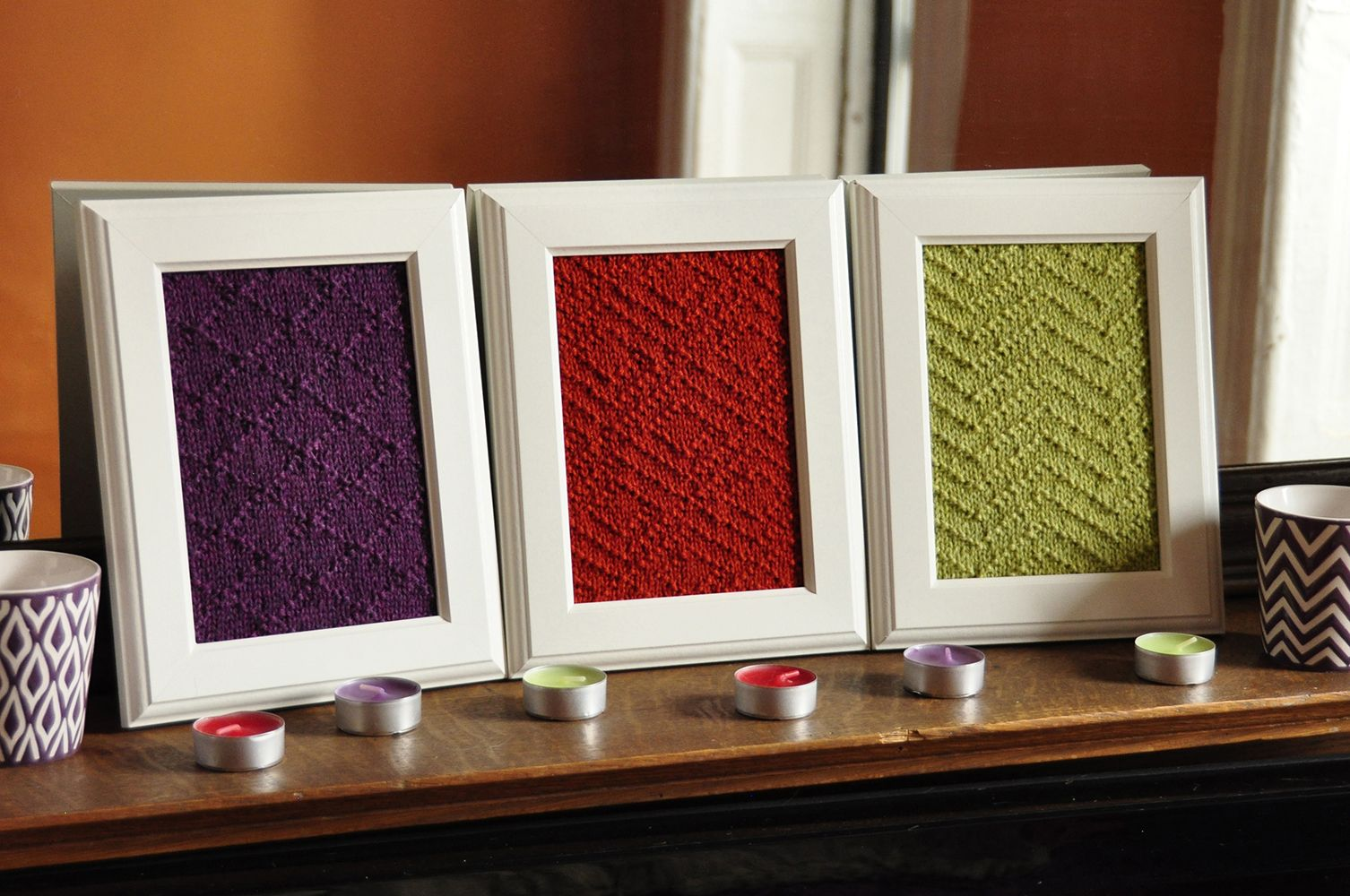 aztec textures knitted wall art knitting pattern   Hand Knit ...