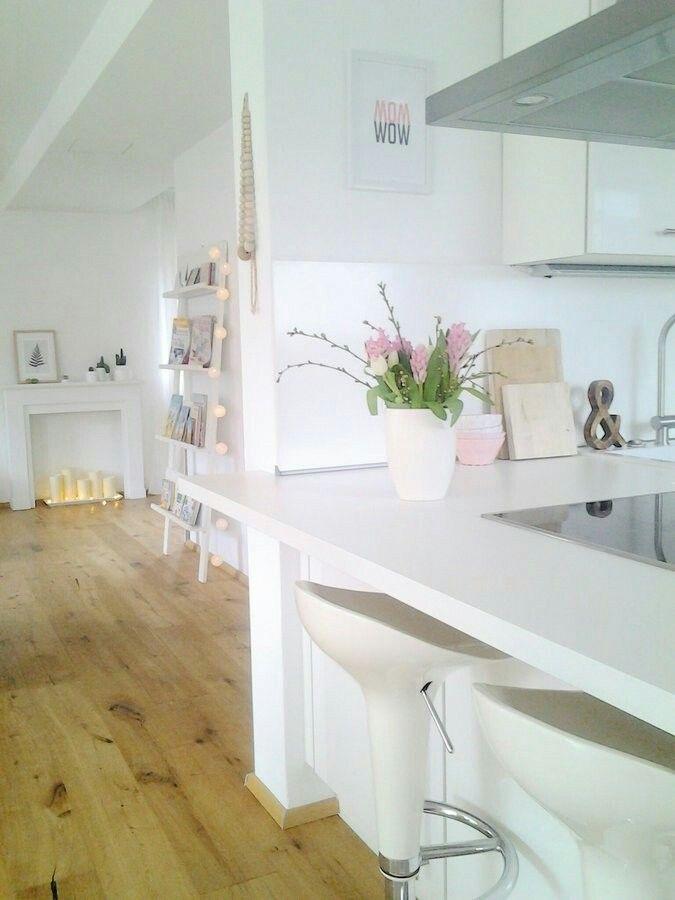 Weiße Küche#weiße Arbeitsplätze#rustikale Eiche Küche - küche eiche rustikal