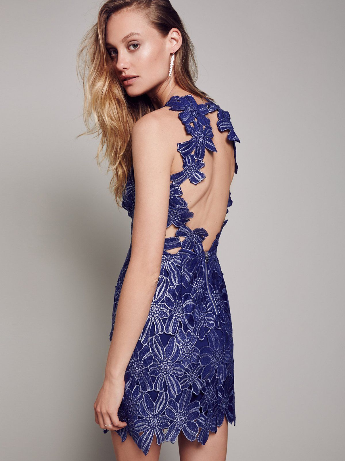Jessa Foil Lace Dress  250.00   Free People 2395cdd26