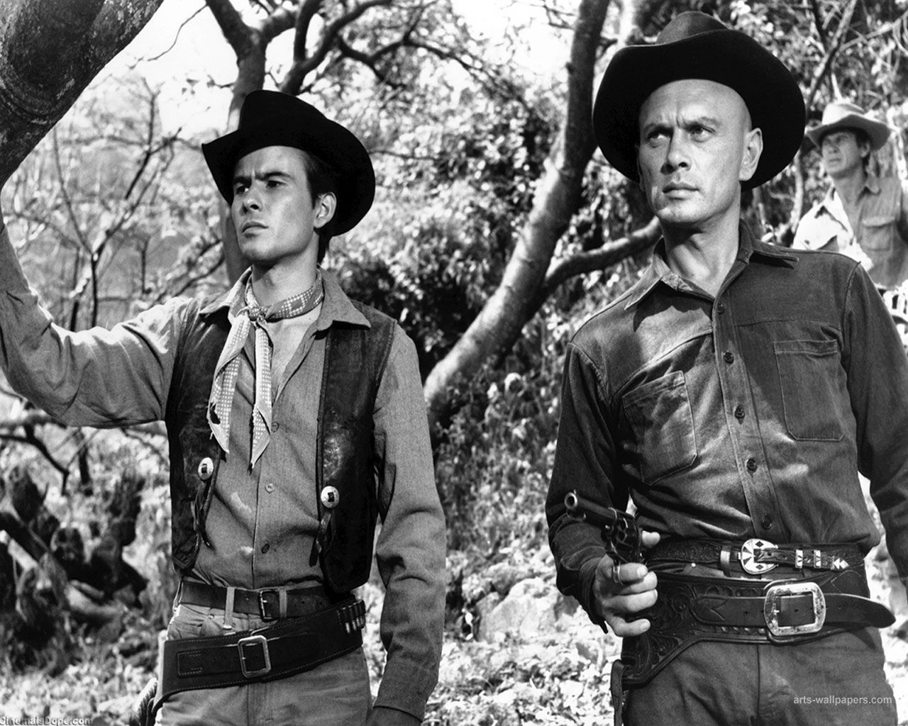 Yule Brynner and Horst Buchholz in The Magnificent Seven ...