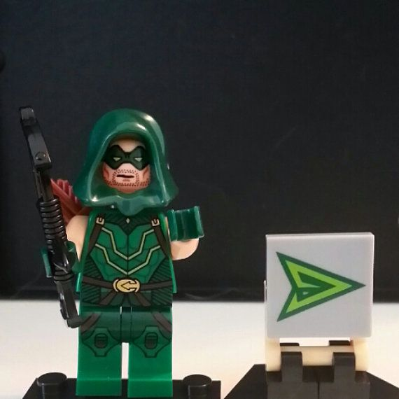 Custom Green Arrow Minifigure Lego Size Super Heroes | legos ...