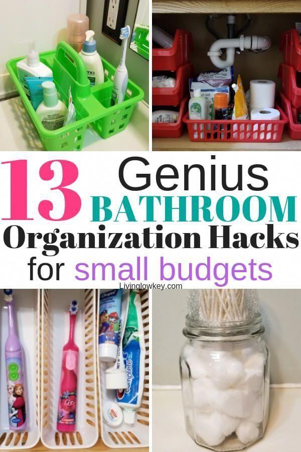 Photo of 13 Insanely Cheap Bathroom Organization Ideas Found At The Dollar Tree