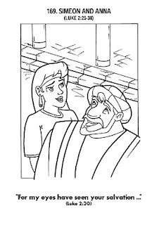 Simeon And Anna Recognize The Lord In Jesus Coloring Page Jesus