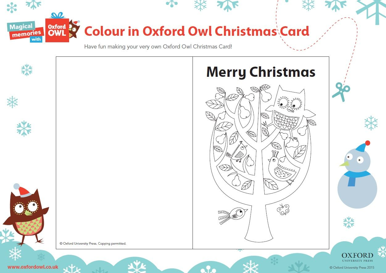 Have Fun Making Your Very Own Oxford Owl Christmas Card