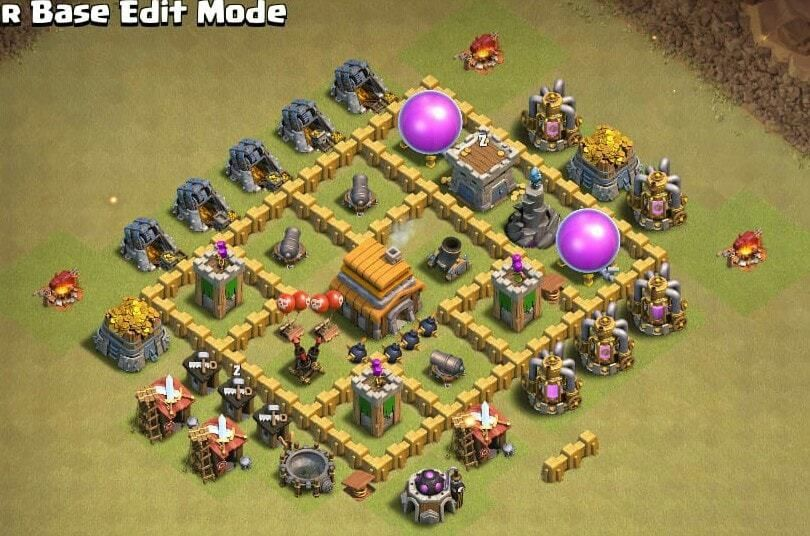 6 Best Town Hall 4 Th4 War Base Of Coc 2019 Town Hall 4 Town Hall Clash Of Clans