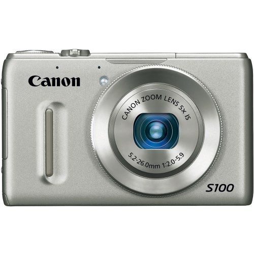 Canon PowerShot S100 121 MP Digital Camera With 5x Wide Angle Optical Image Stabilized Zoom Silver