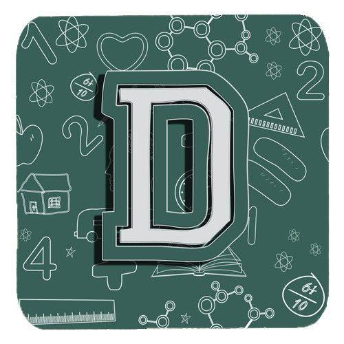 Set of 4 Letter D Back to School Initial Foam Coasters CJ2010-DFC