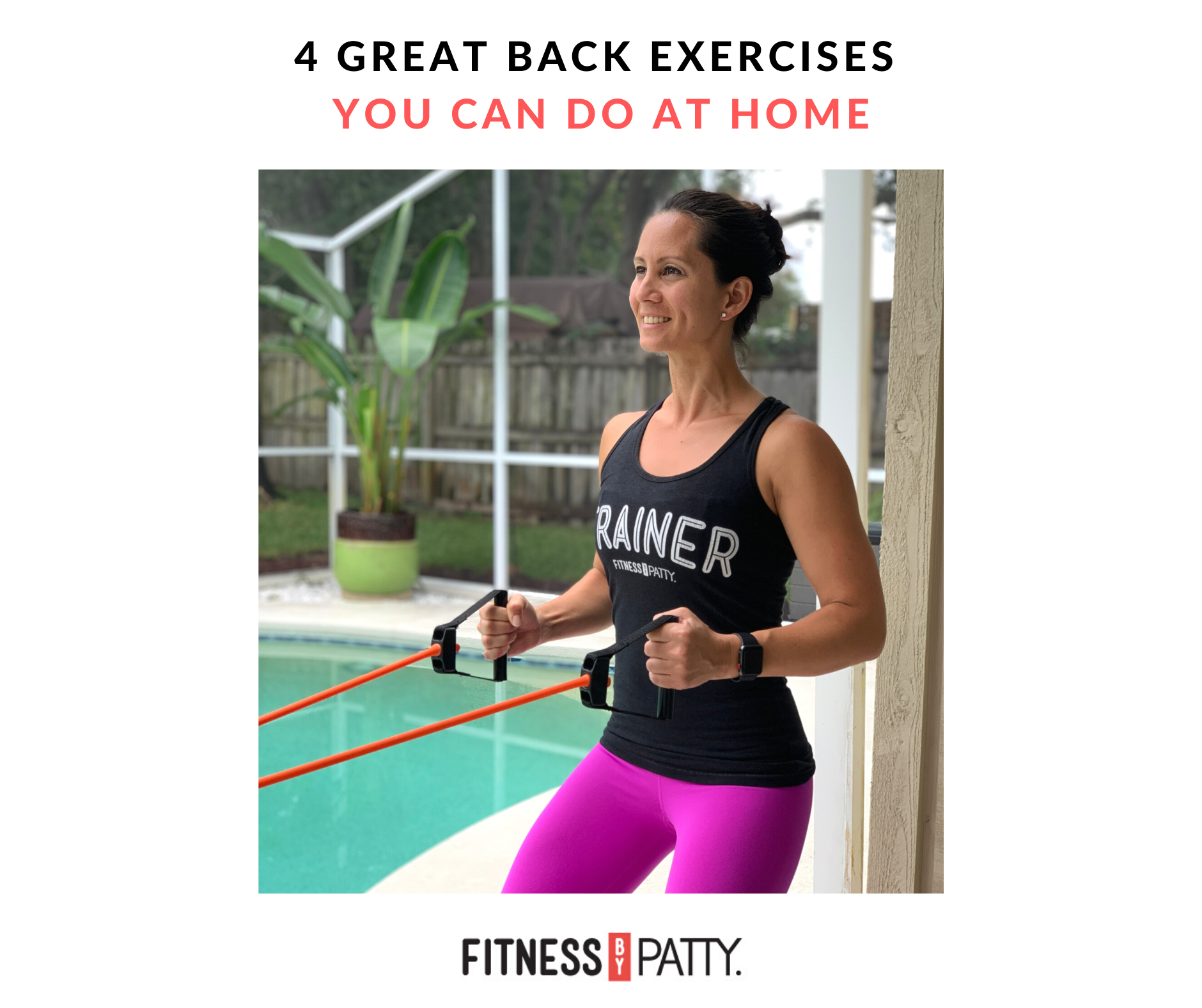 Four Exercises You Can Do At Home For A Stronger Back Achieve Better Posture And Muscle Tone Follow Along Here Back Exercises Better Posture Back Workout