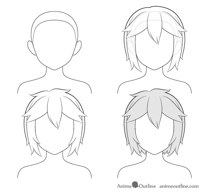 Pin By Sterling Simon On Artwork Manga Hair Anime Drawings Hair Sketch