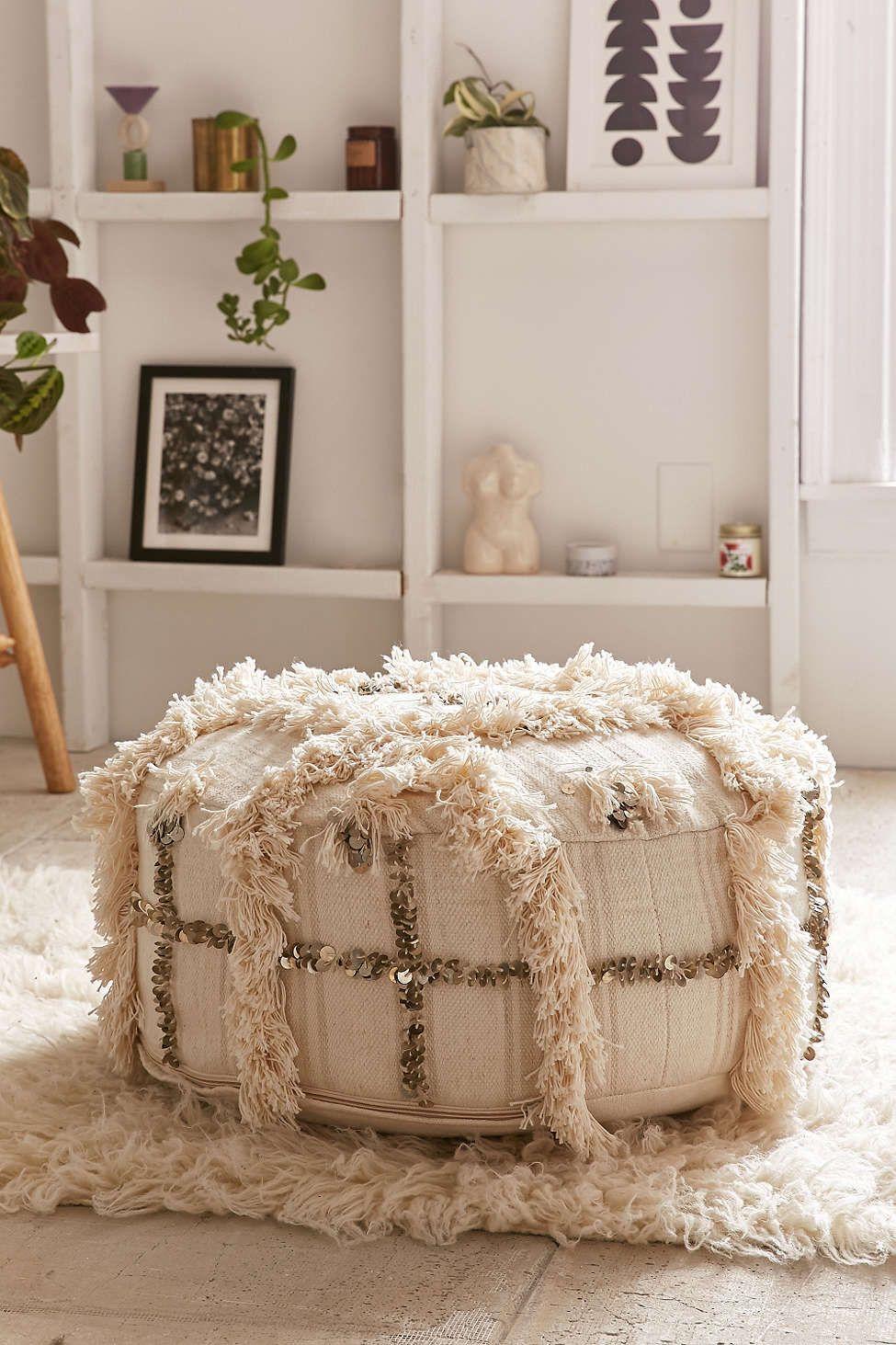 Coin Pillow Pouf Moroccan Pillows Floor Pillows Decor