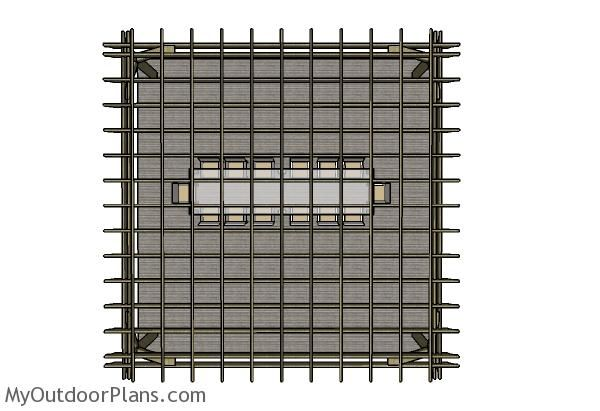 20x20 Pergola Plans Top View Joes Patio Pergola