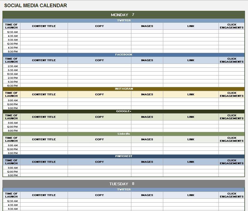 Planning Your Social Media Content And Measuring Its Effect Social Media Calendar Template Social Media Content Calendar Template Social Media Content Calendar