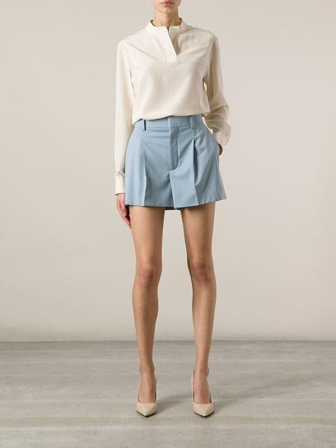 d3842ba463 Chloé Pleated Shorts - Il Bacio Di Stile - Farfetch.com | Pleated ...