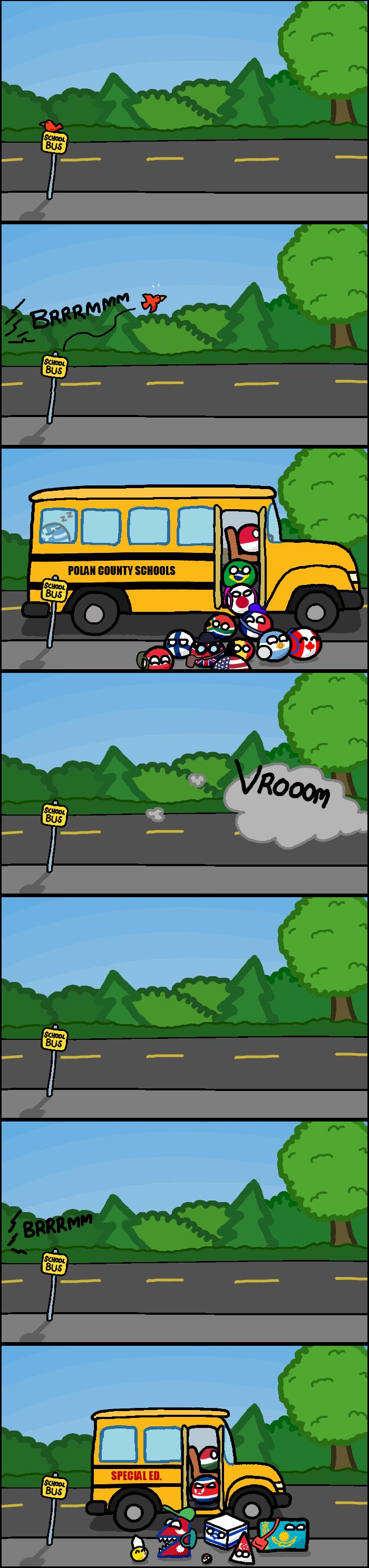 Polandball- Bus Stop