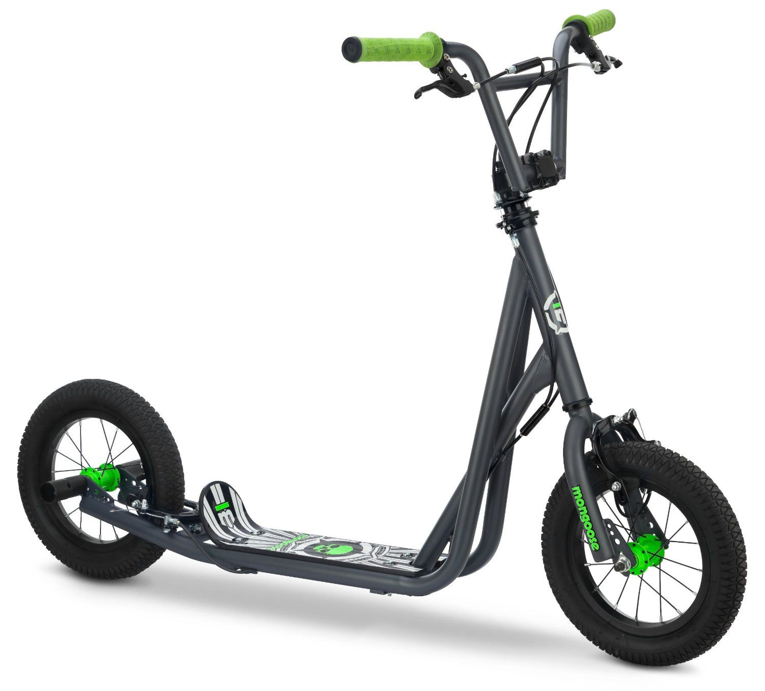 Amazon Mongoose Kid s Air Tire Scooter Grey Mongoose Bmx