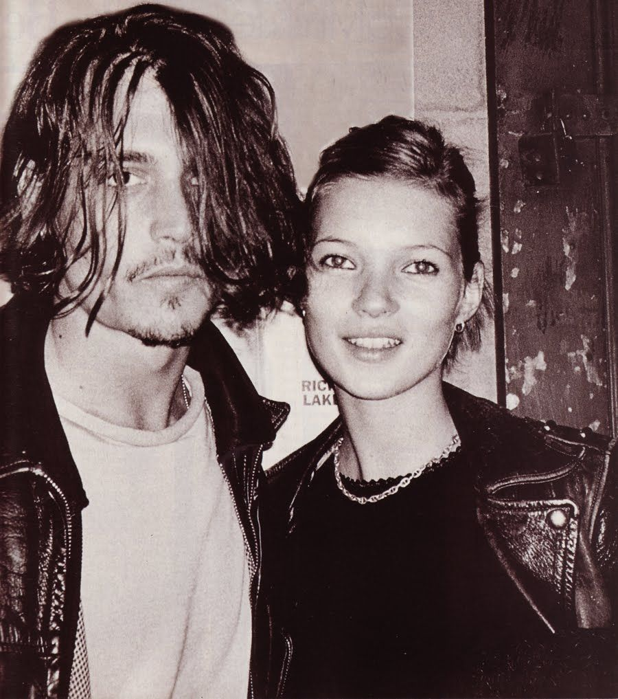 Johnny Depp and Kate Moss #90ties #best #couple