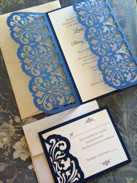 Laser Cut Wedding Invitations Arabesque Por Celinedesigns En Etsy