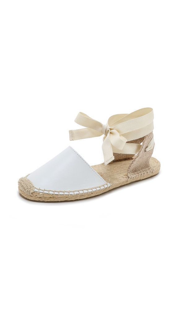Soludos is known for their espadrilles – and we love this version in a neutral palette