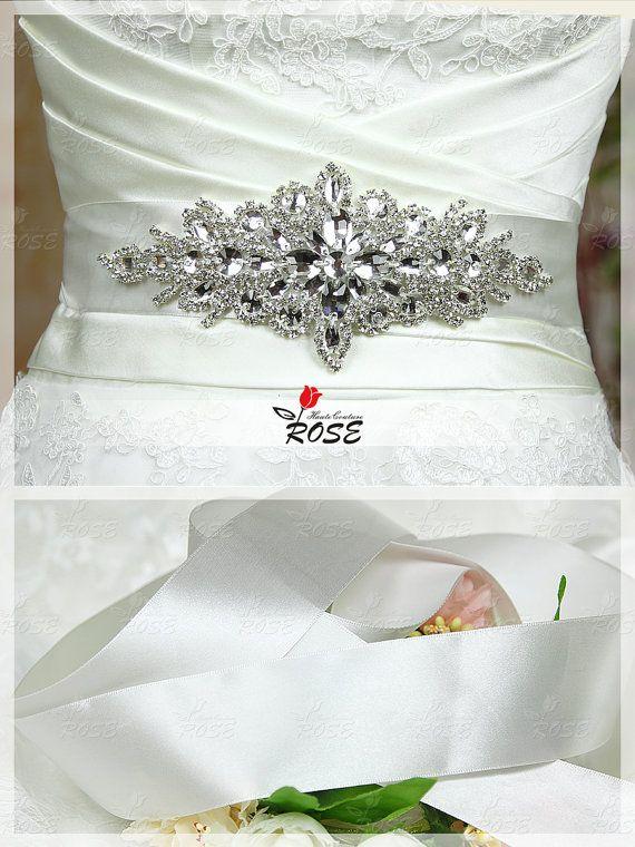 Handmade Crystal Wedding Belt Rhinestone by RoseHauteCouture, $29.00
