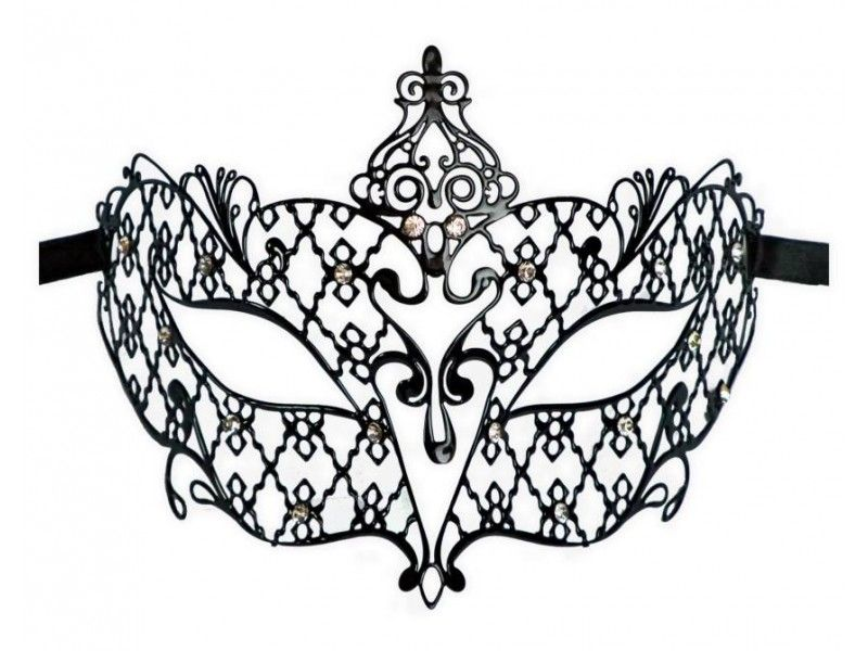 Poison Ivy Mask Stencil White Laser Cut Leather Lace Masquerade
