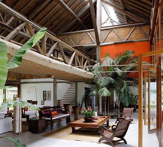 beautiful tropical house