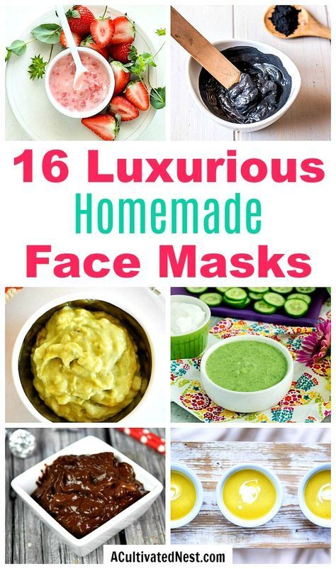 16 Homemade Face Masks- An inexpensive way to relax and nourish your skin at the same time is with a DIY face mask! Here are 16 homemade face masks you have to try!   all-natural DIY face masks, DIY beauty, do it yourself skincare, DIY gift ideas, #diybeauty #DIY #homemade #beauty #faceMask #spa #skincare #allNatural #diyGift #homemadeGift #ACultivatedNest #FaceScrubPores