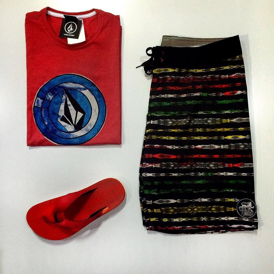 Bells Beach   Tá aí um kit mais suave então  - Camiseta Volcom - Bermuda Hang Loose - Chinelo Kenner #bellsbeachsp #bellsbeach #kit #style #skateshop #beach #sp #brasil #red #surf #life #store by bellsbeach_11 http://ift.tt/1KnoFsa