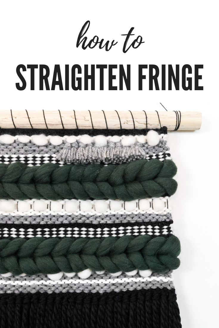 Today on the Spruce & Linen YouTube channel I'm showing you work on this custom striped weaving and how to straighten the fringe on your woven wall hangings! #woventextiles #offtheloom #modernweaving #weavingart #weavingvideo #handmadehomedecor #weavingloom #etsymadeincanada #howto #weaverfever #handmademovement #wovenwallart #howtostraightenfringe #rya #tassels