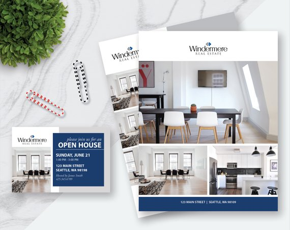 Real Estate Flyer And Postcard Templates Apple Pages Powerpoint