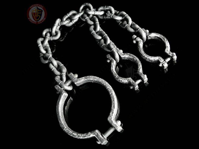 Neck /& Hands Shackles Prisoner Convict Jail Chains Fancy Dress Party Accessory