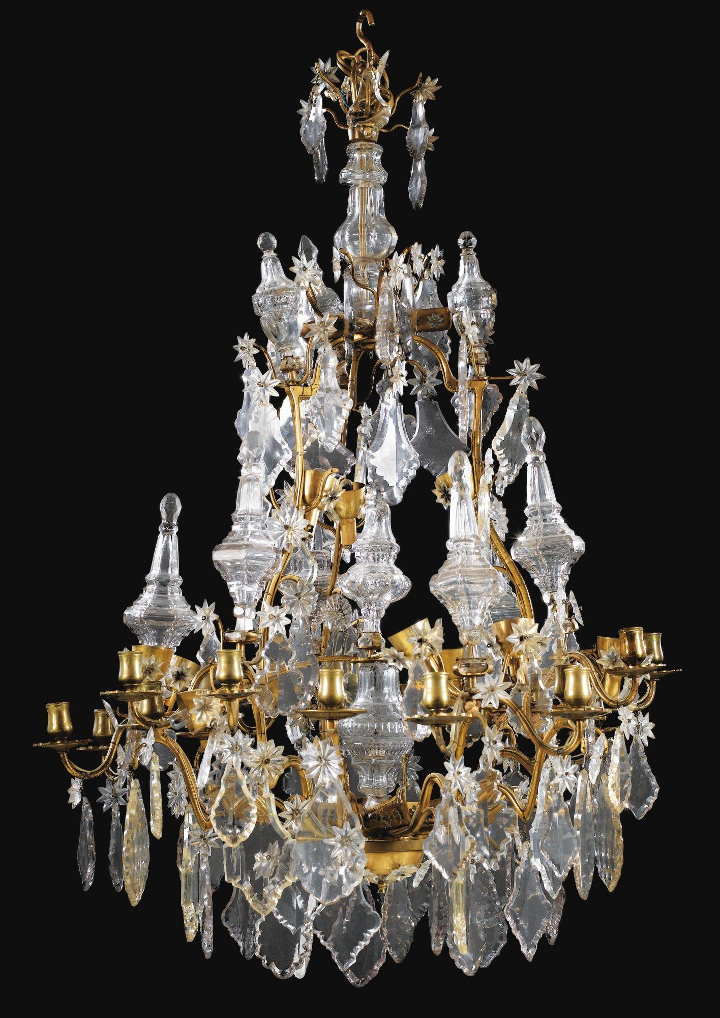 lustre cage en cristal et verre tailles