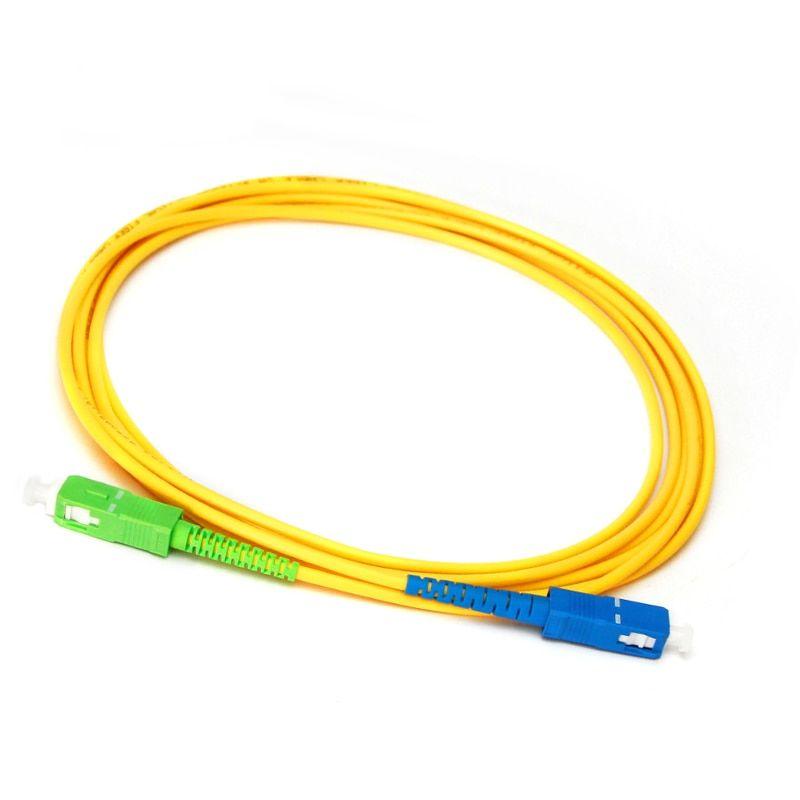 10pcs FTTH LC//APC Fiber Optic Pigtail Simplex Single Mode 0.9mm 1.5m Patch cord