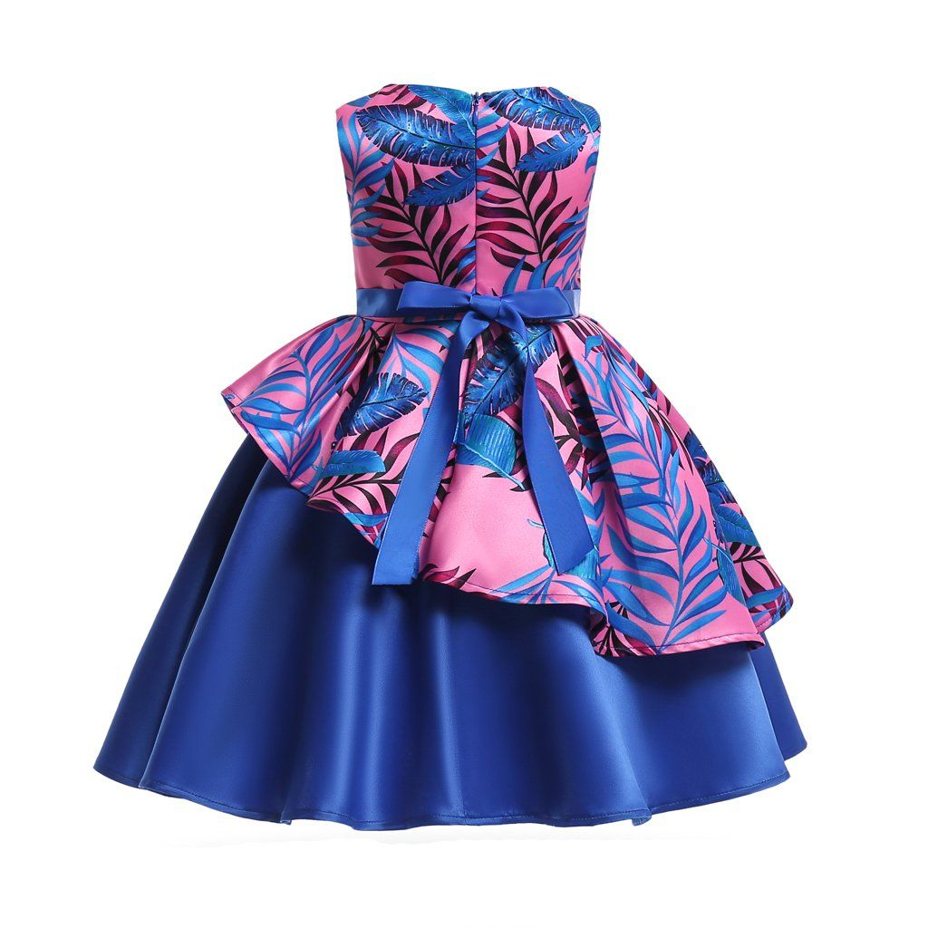 Flower girls dress a line kids pageant party wedding prom