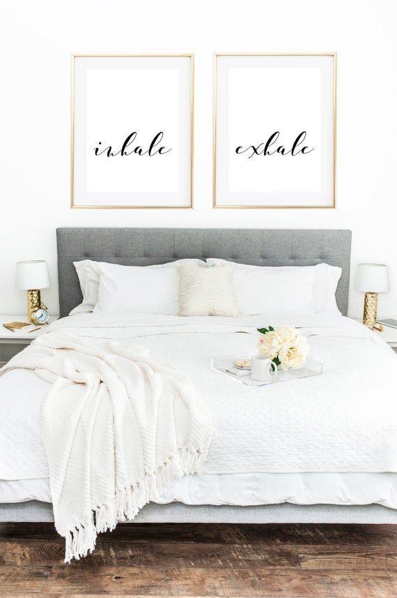 Atmen Sie ein, Ausatmen Druck, Yoga-Poster, Yoga-Druck, Yoga Wandkunst, Zen-Druck, atmen Zeichen, Entspannung, Geschenke, Wand Dekor Wohnzimmer, Schlafzimmer Kunst